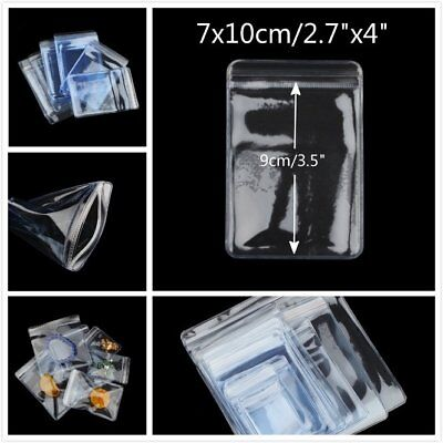 """50 Thick Grip Seal Poly PVC Plastic Self Resealable Packaging Bags 2.7"""" x 4"""""""