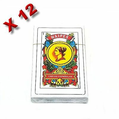 12 X NAIPES BARAJA ESPANOLA SPANISH PLAYING CARDS DECK ESPANOLAS (1 Dozen)