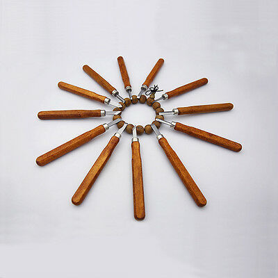 12Pcs New Wood Carving Hand Chisel Tool Set Woodworking Professional Gouges