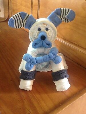 Diaper Cake,  Diaper Puppy, Boy or Girl