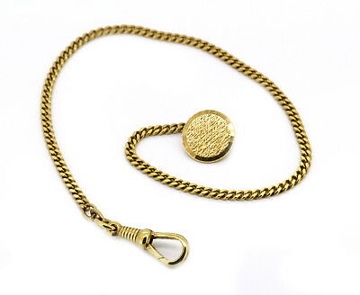 Watch Chain FBM - AMERIKAN Double Gold Plated - approx. 25,5cm Long