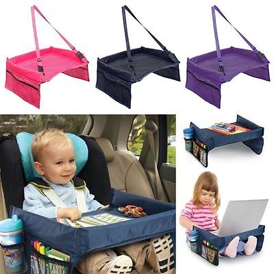 Travel Child Snack Play Tray Lap for Car Seat Table Tidy Toddler Portable HI