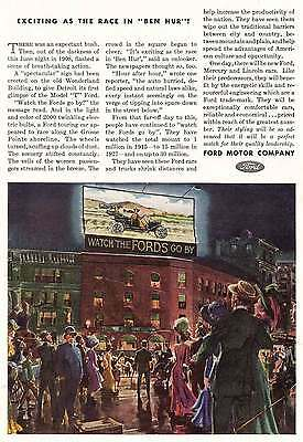 1944 Ford Motor Company: Exciting as the Race in Ben Hur (12642) Print Ad