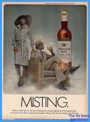 1976 Canadian Mist Whiskey MISTING Suit Hat Fashion African American Black Ad