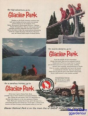 1956 Great Northern Railway Glacier Park Western Star Trout Fishing Railroad Ad