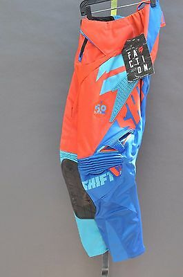 Shift Racing Faction Motocross Mx Moto Pants Size 28 Orange/blue +Free Shipping!