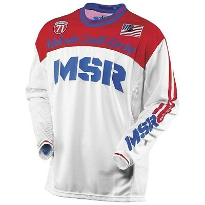 Msr Legend 71 Motocross Mx Moto Jersey Yellow/red & R/w/b! + Free Shipping!!