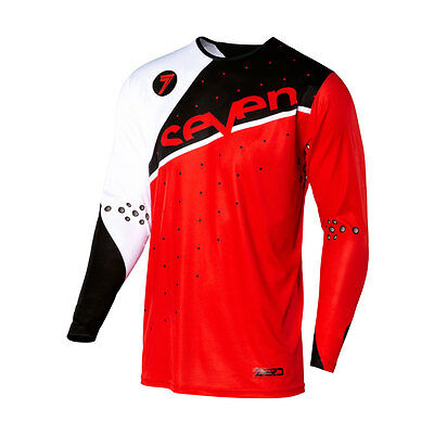 Seven Mx Zero Omni Motocross Mx Moto Jersey Red/black Size 2Xl + Free Shipping!!
