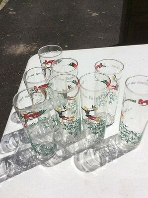 Libby Down On The Farm Vintage Glasses 8, No Fading
