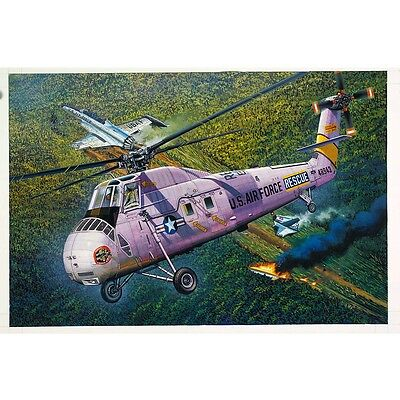 Gallery HH-34 USAF Combat Rescue 1/48 Helicopter model kit 64104 BAD SHRINK *