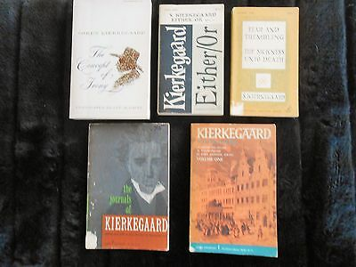 COLLECTION 5 Vintage PB Philosophy books Soren KIERKEGAARD Fear and Trembling