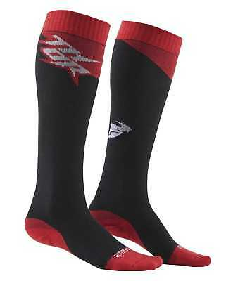 New Thor-MX MX Cool Adult Over-The-Calf Heigth Socks, Charcoal/Red, Size-6,7,8,9