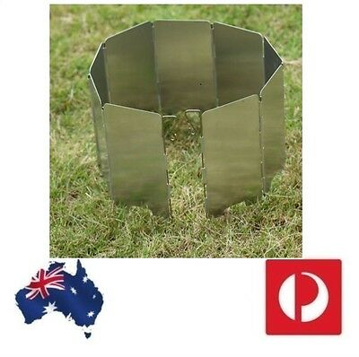 Wind Protection for compact hiking & trekking Stoves Burner Foldable wind Screen