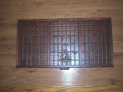 Vtg ANTIQUE SHARP COLLECTOR'S Wood Printers Tray Print Drawer Shadow Box