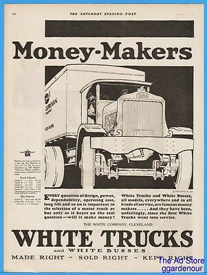 1926 White Truck Company Cleveland OH MONEY MAKERS Vintage 1920s Magazine Ad