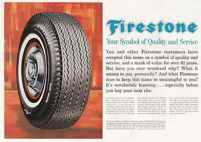 1962 Firestone Deluxe Champion Tires: Symbol of Quality (18067) Print Ad