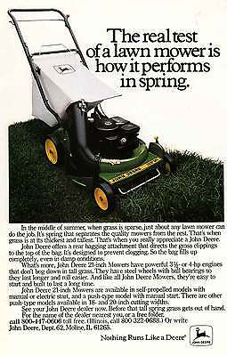 1981 John Deere: The Real Test of a Lawn Mower (7767) Print Ad