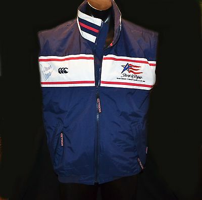 America's Cup 2000 Signed Vest Stars And Stripes Team Dennis Conner Rare Size M