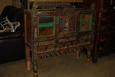 Antique Southwestern Spanish Sideboard / Buffet Painted Folk Art