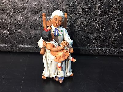 HOMCO Figurine #1451 African American Home Interior Porcelain Grandmother