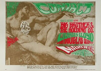 Big Brother 1967 Avalon Ballroom Concert Poster 14 x 20 ~ $44.95 NM- 2nd Print