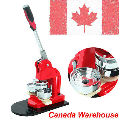 """Canada Sell 1"""" Button Maker Badge Punch Press Machine 1000 Parts Circle Cutter"""