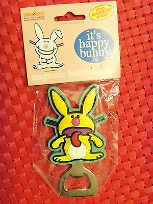 "NEW Sealed It's Happy Bunny ""TONGUE OUT"" Magnetic Bottle Opener HB013"