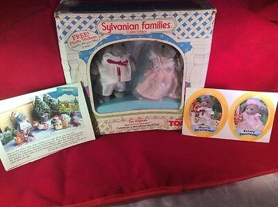 Calico Critters vintage Sylvanian families- Morris and Kelsey Sweetwater NIB