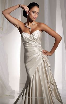 Stylish satin wedding gown with  pleating (was $2299) Sophia Tolli Y11101