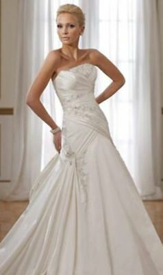 Strapless satin wedding dress with pleating (was $2299.00) Sophia Tolli Y21057