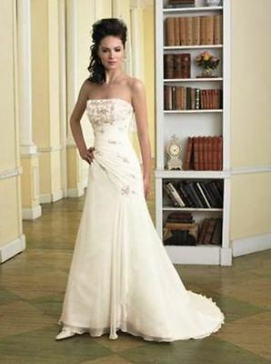 Crinkle chiffon wedding gown Sophia Tolli Y2727  (Marked down from $1829.00)