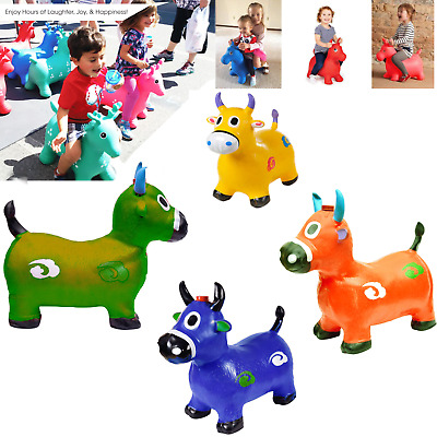 Cow Hopper Inflatable Space Hopper, Jumping Cow, Ride-on Bouncy Animal