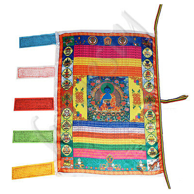 Lucky Tibetan Wind Horse Flag Buddhist Pray Flag For Buddhism Medicine Satin
