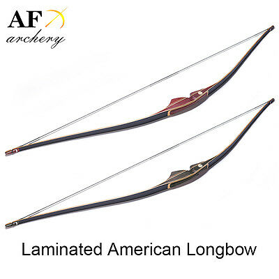 AF Archery Handmade Laminated Traditional American longbow Hunting Recurve bow
