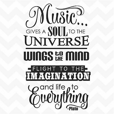MUSIC QUOTE PRINT / Inspirational GOLD foil poster for
