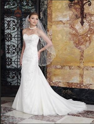 Strapless slim-fit wedding gown with net overlay (was $2329) Sophia Tolli Y1920