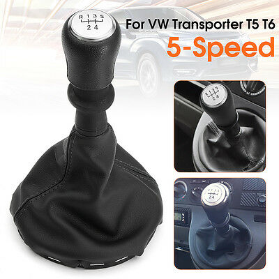 5 Speed Gear Stick Shift Knob Gaitor Boots For VW Transporter T5 T6 #161412