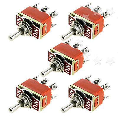 5pcs 12V Car Truck Dash Industrial Flick Toggle Switch ON/OFF Light Metal