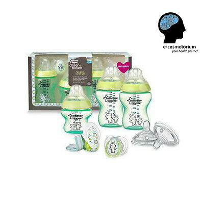 Tommee Tippee Closer to Nature Newborn Starter Set 0m+ (Green - Limited Edition)