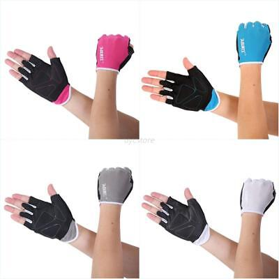 Weight lifting Gym Gloves Training Fitness Wrist Wrap Workout Exercise Sports AU