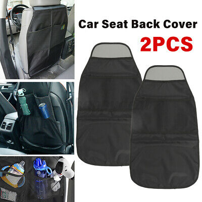 Car Seat Kick Covers W/ 2 Storage Bag Back Protectors Kids Baby Children Mats UK