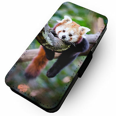 WTF | Lazy Red Panda | Faux Leather Flip Phone Case #1 Branch Sleep Animal Asia