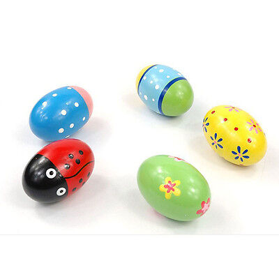High Quality Wooden Egg Baby Music Shaker Percussion Toys Rattle Maracas