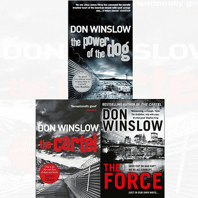 Don Winslow Collection 3 Books Set The Force,The Power of the Dog The Cartel New