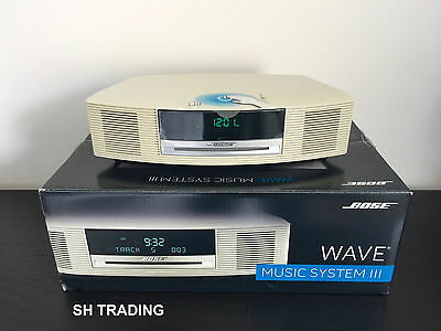new boxed bose wave iii 3 cd dab radio alarm clock platinum white music system eur 460 93. Black Bedroom Furniture Sets. Home Design Ideas