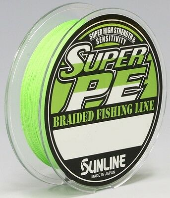 Sunline Super PE Braid UPGRADED FORMULA 150m Lt.Green Choose Breaking Strain New