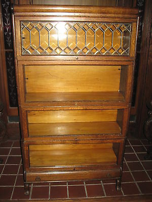 Antique Lawyers Bookcase Stacking W/Drawer  Lundstrom Little Falls NY