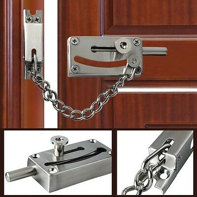Alise Slide Bolt Latch with Security Chain Safety Gate Door Lock Can Be Fixed,He