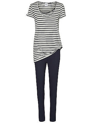 Maternity & Nursing Pyjamas Breastfeeding Navy Stripe Size 12, 14 & 16 £38 RRP