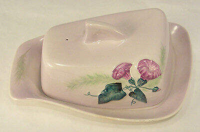 Carlton Ware Cheese Butter Keeper Morning Glory Pattern Reg. Australian Vintage